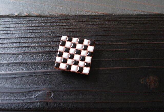 市松模様の帯留めの画像1枚目
