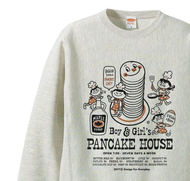 【厚手生地】【あったか】Boy&Girl'sパンケーキハウス  S~XL トレーナー【受注生産品】の画像1枚目
