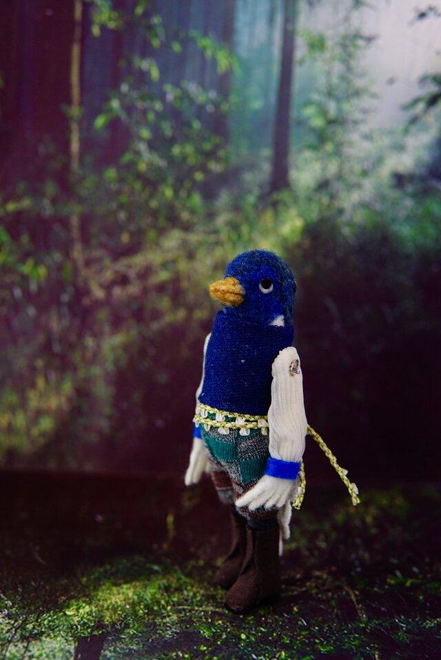 羊毛フェルト  青い鳥の王子様の画像1枚目