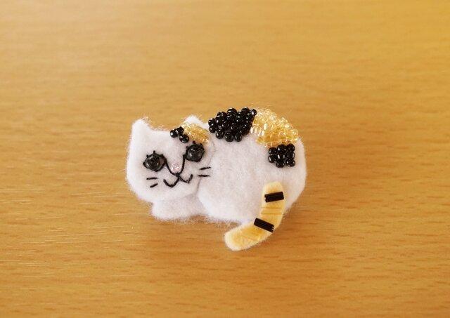 野良猫ブローチ①の画像1枚目