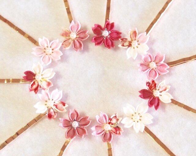 ヘアピン*桜ひとひら -つまみ細工-の画像1枚目