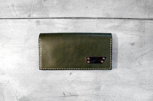 プルアップオイルレザーの長財布の画像1枚目
