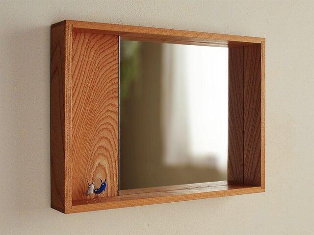 はこ鏡 欅(ケヤキ)材3の画像1枚目