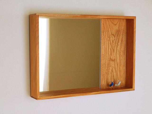 「ゆめさまご注文品」はこ鏡 欅(ケヤキ)材の画像1枚目