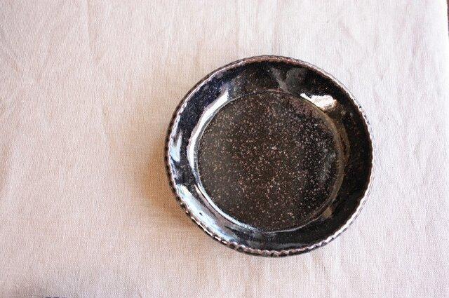 gizagizaリム皿(小/黒)の画像1枚目