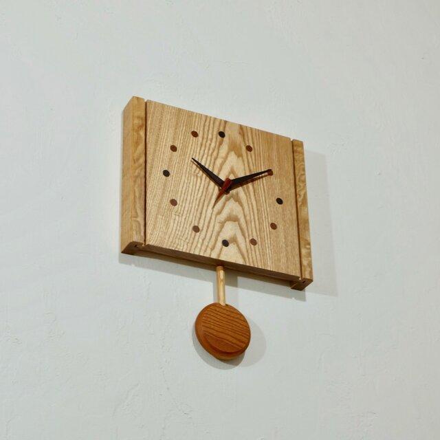 振り子時計(タモ002)の画像1枚目