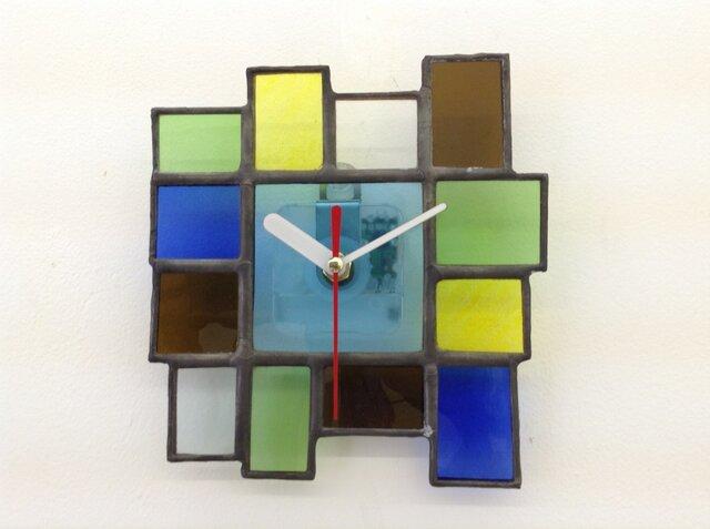 醤油瓶ステンドグラス時計Dの画像1枚目