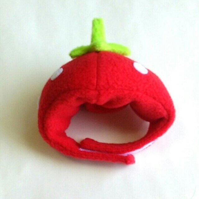 苺のかぶりもの(帽子)【S/M/L】の画像1枚目