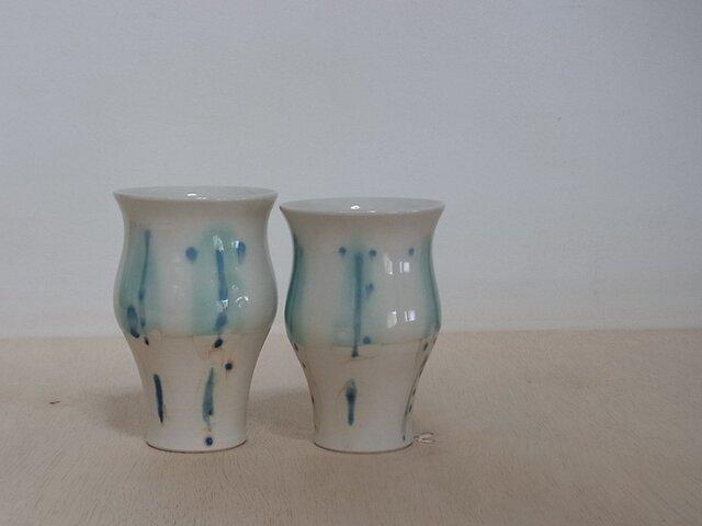 ペアビアカップ 青の画像1枚目