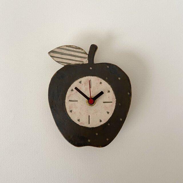 りんごの掛け時計 (陶器)の画像1枚目