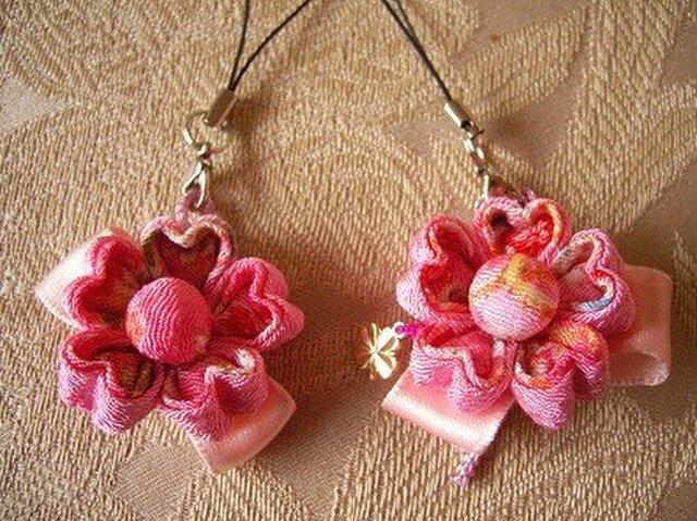 【再販】幸せの桜の花ストラップの画像1枚目