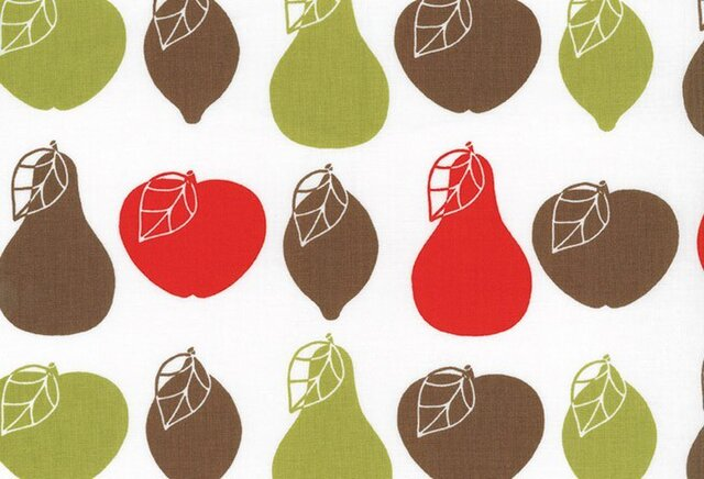 Westfalenstoffe コットンカットクロス フルーツサラダ りんご 洋梨の画像1枚目