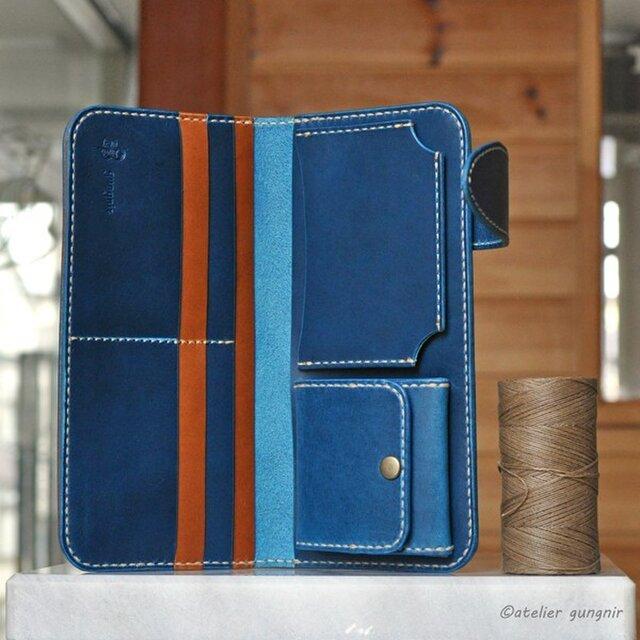 カード収納重視の長財布 No.4 イタリアンレザーの画像1枚目