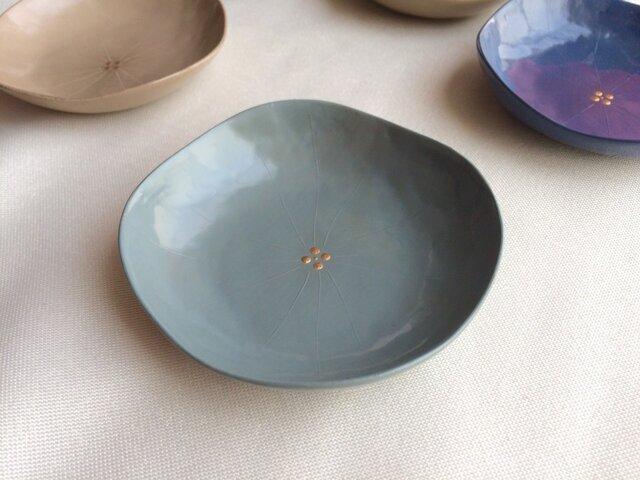 華の豆皿 (白藍の紫陽花) 乾漆の画像1枚目