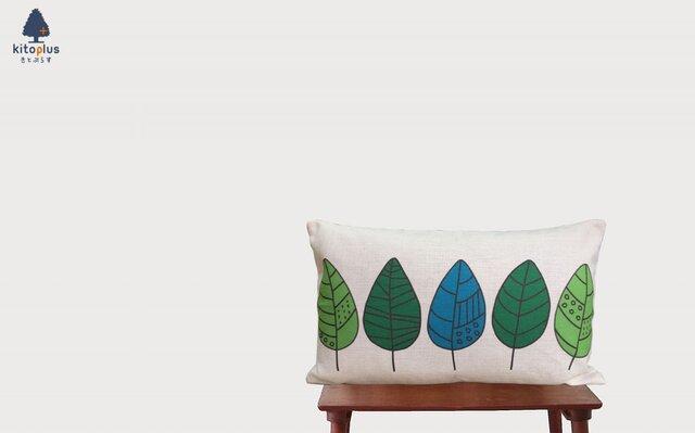 森のクッション  Greenl leafの画像1枚目