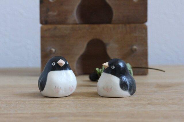 【水無月・新作】アデリーペンギン(マット) 国産ヒノキの木箱入り ※受注制作の画像1枚目
