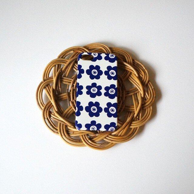 【iPhone/Android】側表面印刷*ハード型*スマホケース「anemone ( deep blue )」の画像1枚目