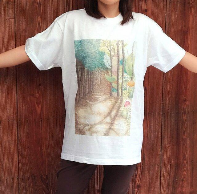 送料無料★森の木漏れ日Tシャツの画像1枚目