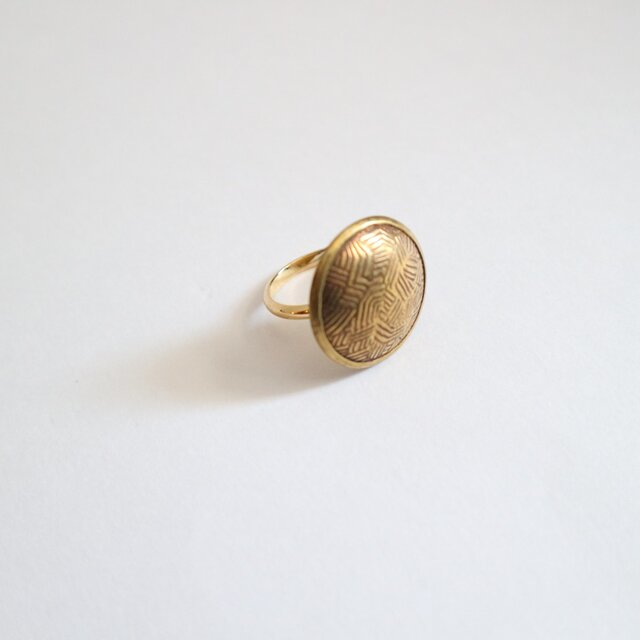 Vintagstyle button ringの画像1枚目