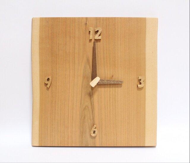 無垢 掛け時計〈山さくら〉1点ものの画像1枚目