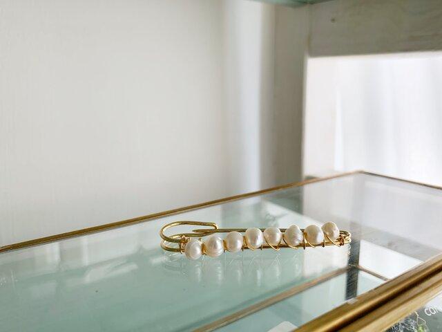 【6月の誕生石:ストールピン】淡水パール(真珠)の画像1枚目