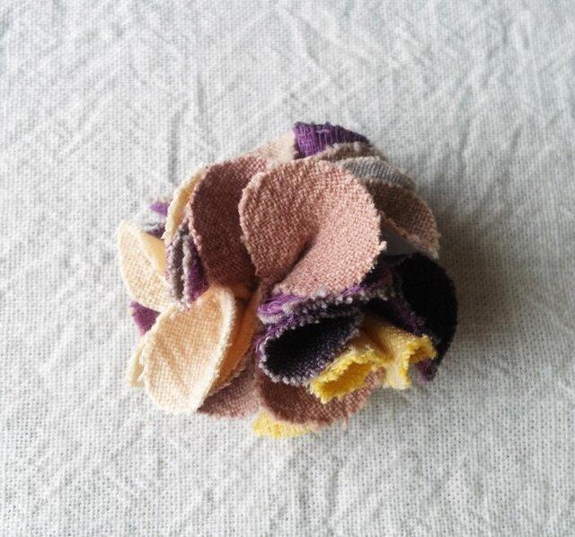 Mix color コサージュ ピンク×紫×黄の画像1枚目