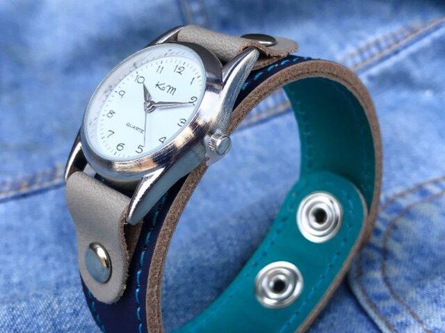 【送料無料】毎日つけていたくなる時計「ステッチラン 腕時計」受注生産(SRW-NTH-TS)Ⅱの画像1枚目