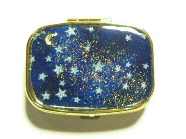 新作 1点物 月夜の星空 ピルケースの画像1枚目