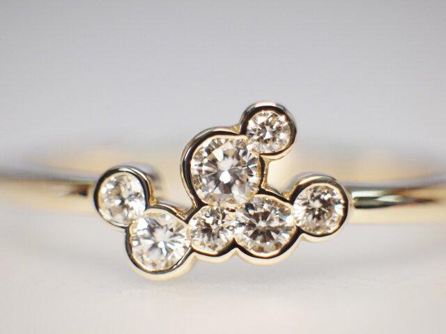 【N様オーダー用】メレダイヤモンド指輪の画像1枚目
