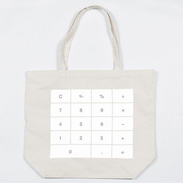 キャンバスバッグ 計算機 トートバックの画像1枚目