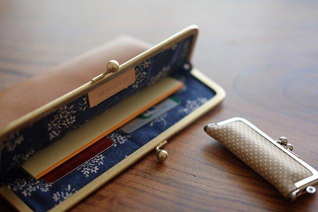 レザー通帳ケース/パスポート/母子手帳/お薬手帳ケース/キャメルの画像1枚目