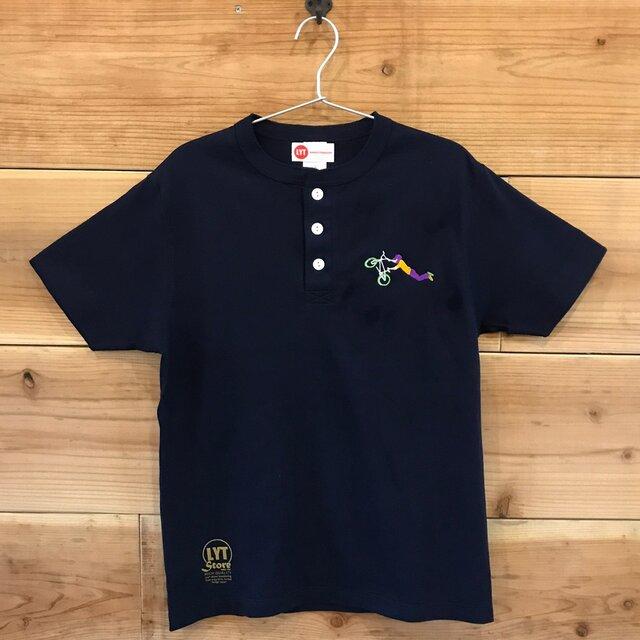 BMX 刺繍 ヘンリーネックTシャツの画像1枚目