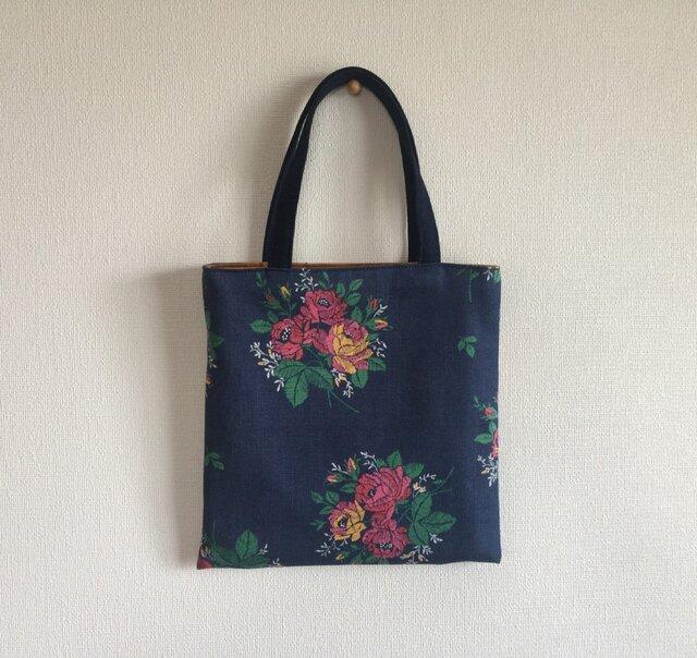 花柄 ミニトートバッグ バッグインバッグの画像1枚目