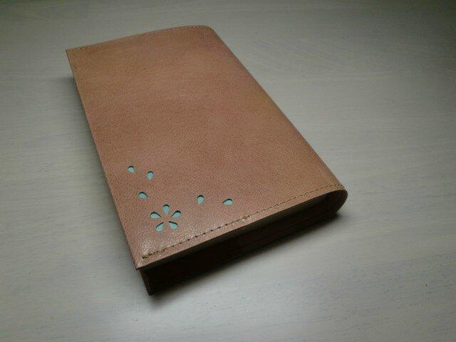 「HANABIRA」シリーズ・ゴートスキン・一枚革のブックカバー038の画像1枚目