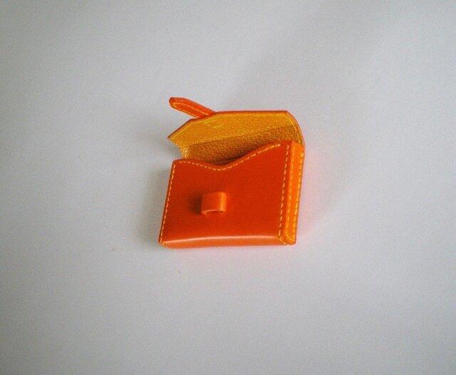 yuk様オーダー専用ページ 箱型名刺入れ(オレンジ色)の画像1枚目