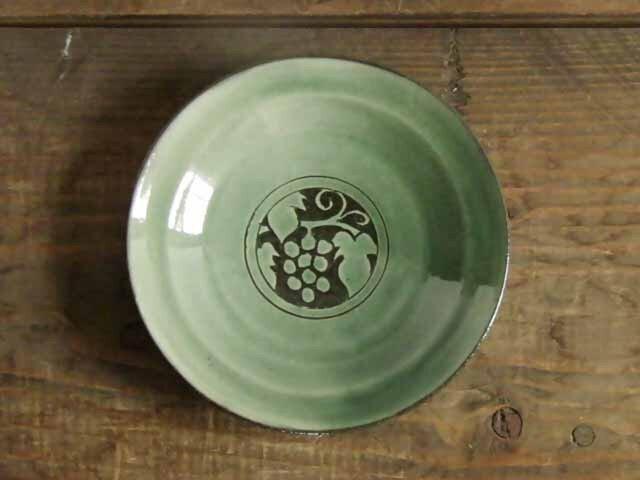 葡萄の小皿(緑)の画像1枚目