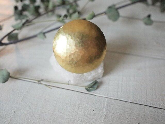 ぽこぽこ雪平 大きめ真鍮コンチョ(丸めの画像1枚目