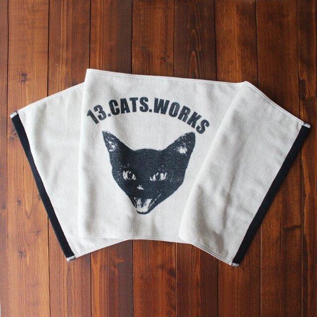 フェイスタオル(VIVI FACE)-シルクスクリーン-13.CATS.WORKSオリジナルの画像1枚目