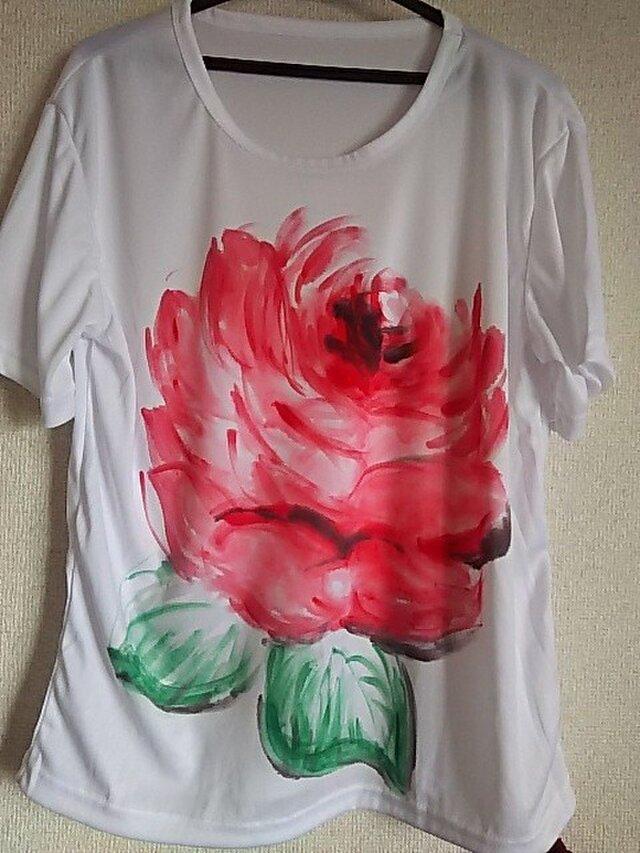薔薇のTシャツ (手描き)の画像1枚目