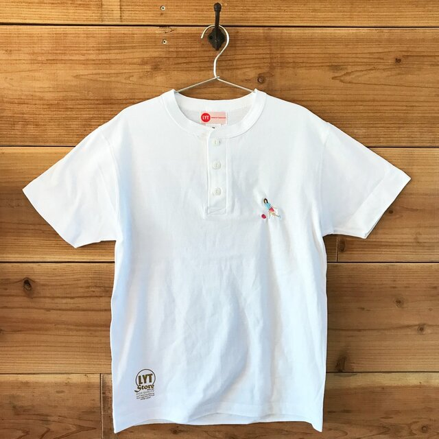 ボウリング 刺繍 ヘンリーネックTシャツの画像1枚目