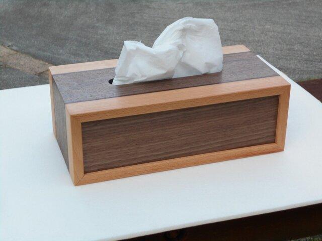 無垢材で作ったテッシュボックスの画像1枚目