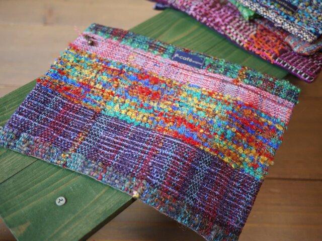 さをり織 フラットポーチの画像1枚目