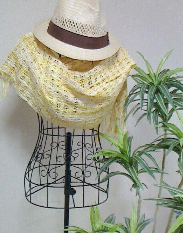 おしゃれな手織りストール オリジナル《木の葉》の画像1枚目