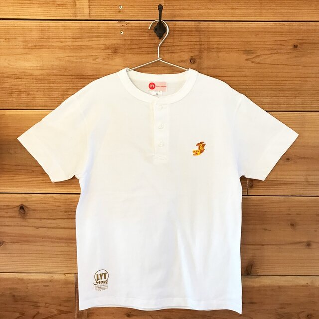金鯱 刺繍 ヘンリーネックTシャツの画像1枚目