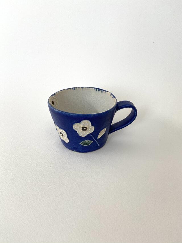花マグ(青×白)の画像1枚目