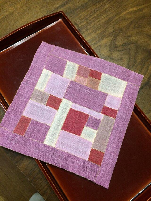 ポジャギのテーブルセンター(ピンク)の画像1枚目