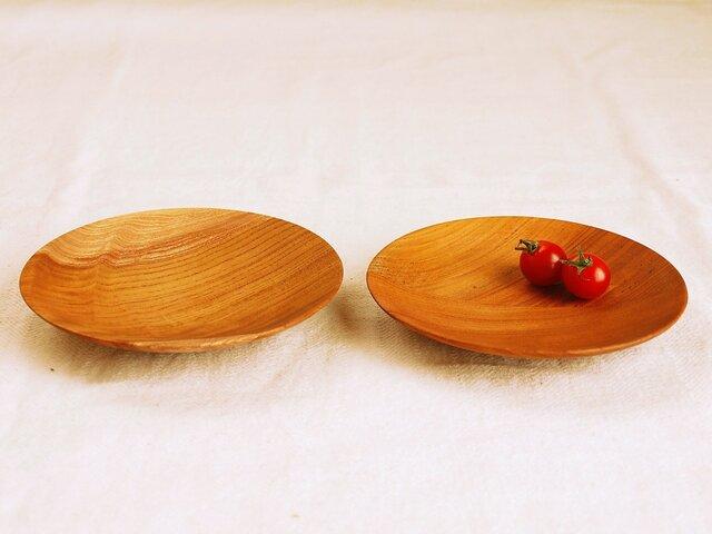 2枚セット 木のお皿・器 欅(ケヤキ)材2の画像1枚目
