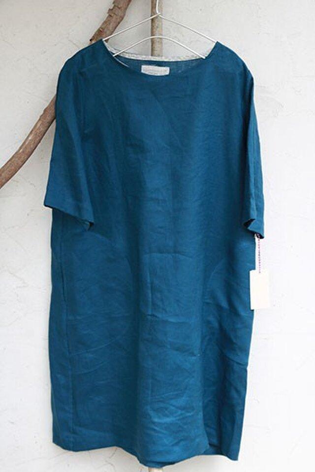 2200af01d23f0 クルーネックワンピ:ブルー   cimicuri   ハンドメイド通販 iichi(いいち)