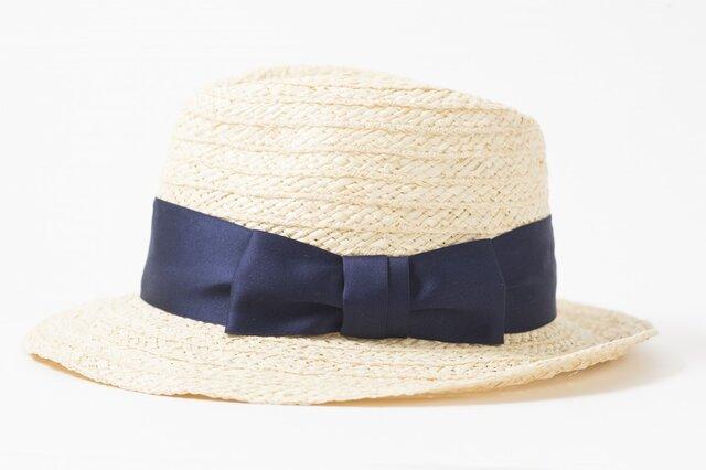 天然ブレード中折れハット ラフィアの帽子です。17SSN-002の画像1枚目
