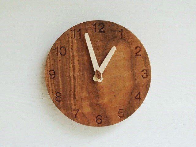 直径20cm 掛け時計 ウォールナット【1717】の画像1枚目